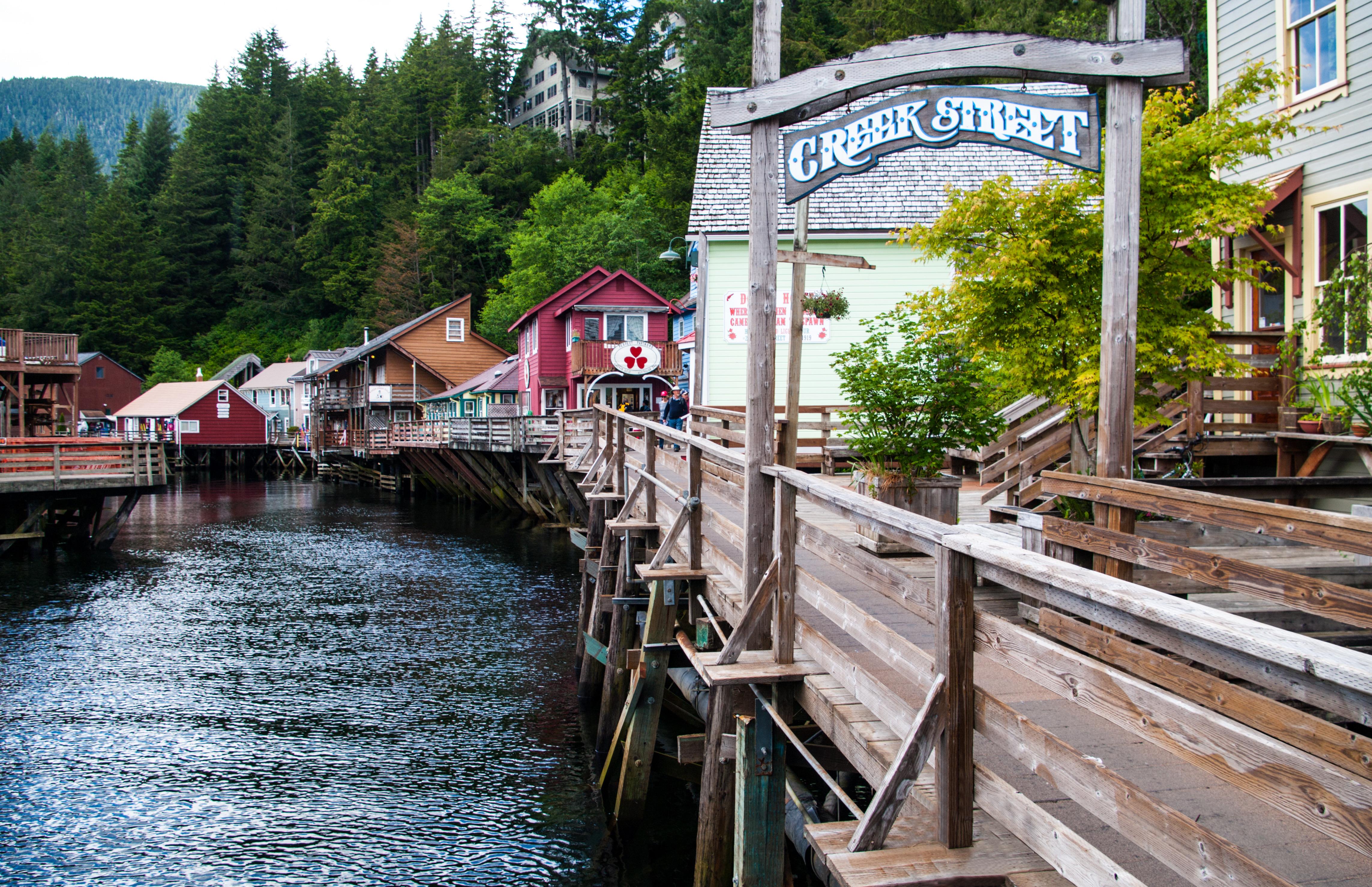 Creek Street looking north in Ketchikan Alaska