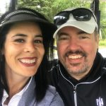 josh and ang golf 2018 selfie