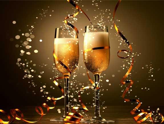 happy new year celebration champagne