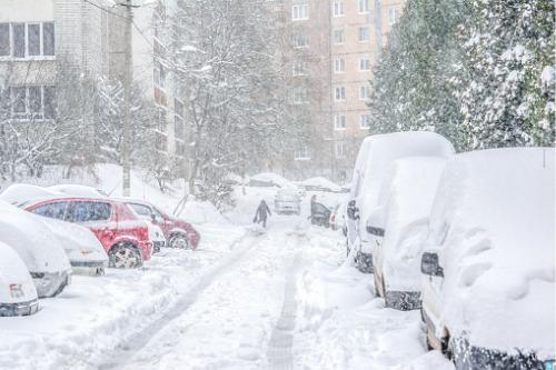 Texas freeze snowed streets