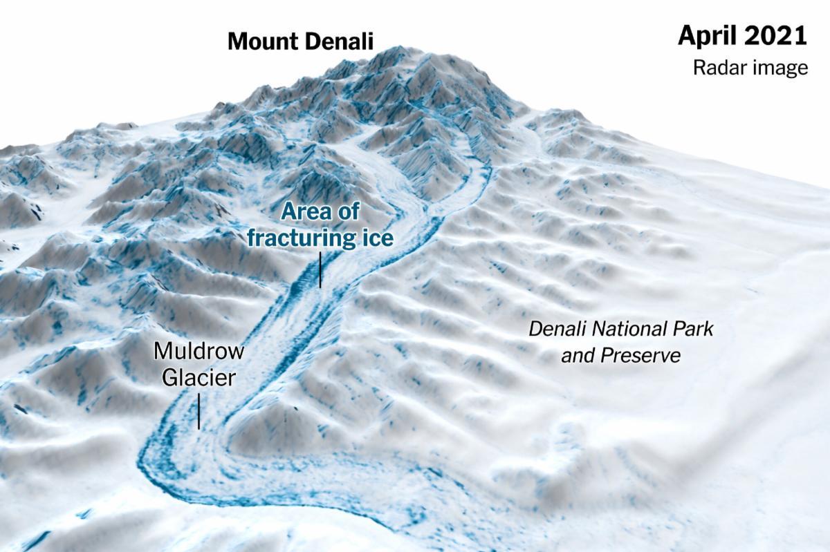 Mount Denali April 2021 Radar image